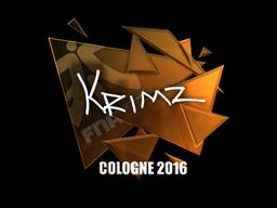 Sticker | KRIMZ (Foil) | Cologne 2016