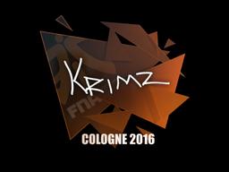 Наклейка   KRIMZ   Кёльн 2016
