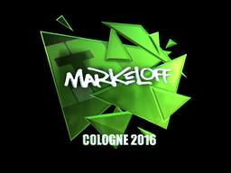 Наклейка   markeloff (металлическая)   Кёльн 2016