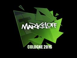 Наклейка | markeloff | Кёльн 2016