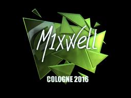 Наклейка   mixwell (металлическая)   Кёльн 2016