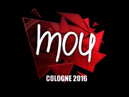 Наклейка   mou (металлическая)   Кёльн 2016