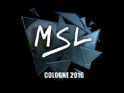 Наклейка   MSL (металлическая)   Кёльн 2016