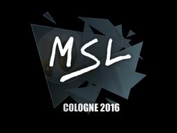Наклейка | MSL | Кёльн 2016