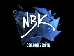 Наклейка   NBK- (металлическая)   Кёльн 2016