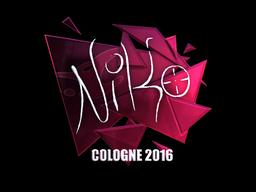 Наклейка   NiKo (металлическая)   Кёльн 2016