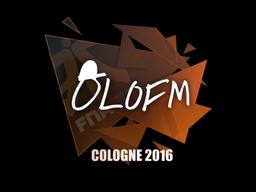 Наклейка   olofmeister   Кёльн 2016
