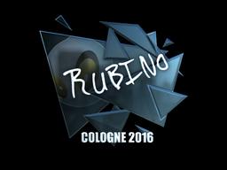 Наклейка   RUBINO (металлическая)   Кёльн 2016