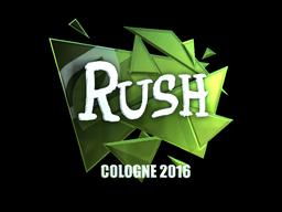 Наклейка   RUSH (металлическая)   Кёльн 2016