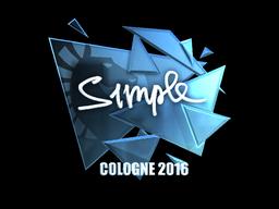 Sticker | s1mple (Foil) | Cologne 2016