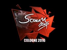 Наклейка   ScreaM (металлическая)   Кёльн 2016