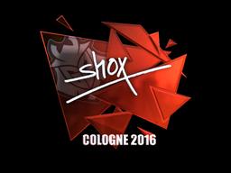Наклейка   shox (металлическая)   Кёльн 2016