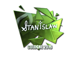 Наклейка   stanislaw (металлическая)   Кёльн 2016