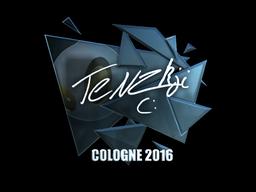 Наклейка   TENZKI (металлическая)   Кёльн 2016