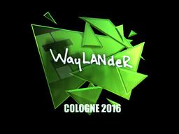 Наклейка   wayLander (металлическая)   Кёльн 2016