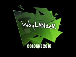 Наклейка | wayLander | Кёльн 2016