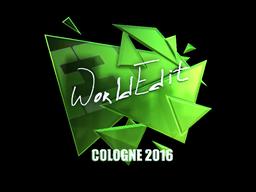 Наклейка   WorldEdit (металлическая)   Кёльн 2016
