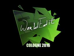 Наклейка | WorldEdit | Кёльн 2016