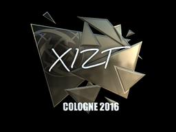 Sticker | Xizt (Foil) | Cologne 2016
