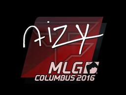Наклейка   aizy   Колумбус 2016