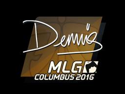 Наклейка | dennis | Колумбус 2016