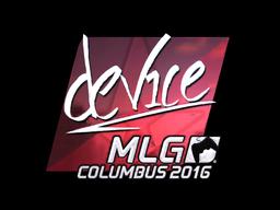 Sticker | device (Foil) | MLG Columbus 2016