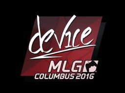 Наклейка | device | Колумбус 2016