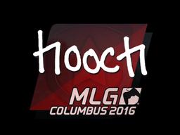 Наклейка   hooch   Колумбус 2016