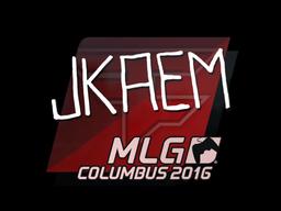 Наклейка   jkaem   Колумбус 2016
