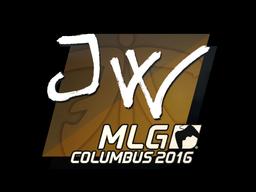 Наклейка | JW | Колумбус 2016
