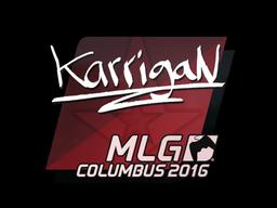 Наклейка | karrigan | Колумбус 2016