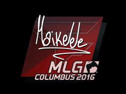 Наклейка   Maikelele   Колумбус 2016