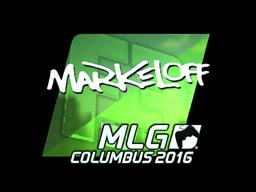 Sticker | markeloff (Foil) | MLG Columbus 2016