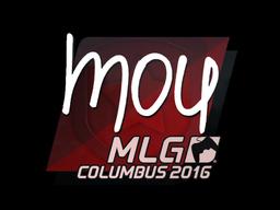 Наклейка   mou   Колумбус 2016
