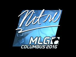 Sticker | nitr0 (Foil) | MLG Columbus 2016