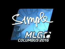 Sticker | s1mple (Foil) | MLG Columbus 2016