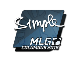 Sticker | s1mple | MLG Columbus 2016