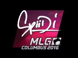 Sticker | Spiidi (Foil) | MLG Columbus 2016