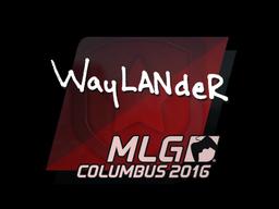 Наклейка   wayLander   Колумбус 2016