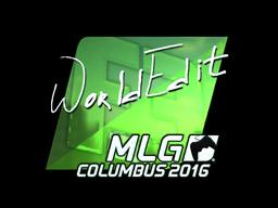 Sticker | WorldEdit (Foil) | MLG Columbus 2016