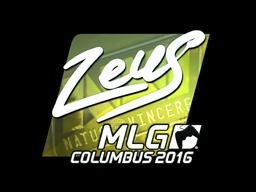 Sticker | Zeus (Foil) | MLG Columbus 2016