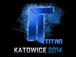 Наклейка | Titan (голографическая) | Катовице 2014