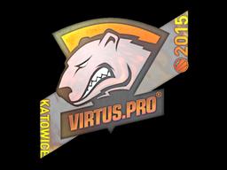 Наклейка | Virtus.pro (голографическая) | Катовице 2015
