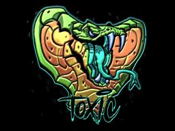 Наклейка | Токсичность (металлическая)