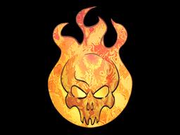 Наклейка | Сожжение (голографическая)