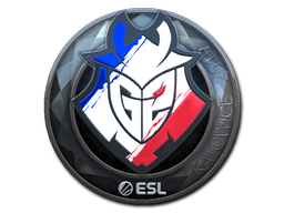 Наклейка | G2 Esports (металлическая) | Катовице 2019