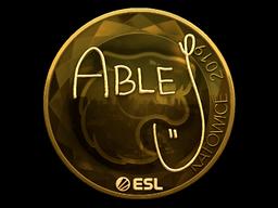 Sticker   ableJ (Gold)   Katowice 2019