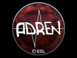 Наклейка | AdreN (металлическая) | Катовице 2019