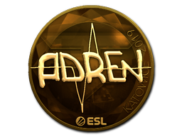 Наклейка | AdreN (золотая) | Катовице 2019