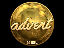 Sticker   advent (Gold)   Katowice 2019